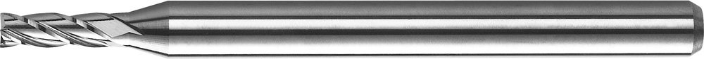 KYOCERA 1813-0650L195CR Series 1813 Standard Length Corner Radius End Mill, Carbide, AlTiN, 30 Degree Angle, 4 Flute, 0.0650