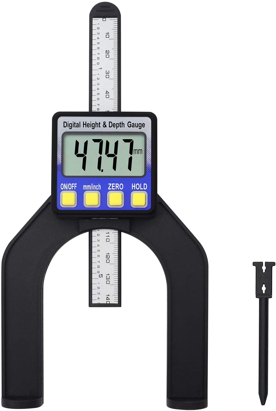 Digital Height and Depth Guage Magnetic Horizontal Vertical Measuring Tool w/Detachable Plunger Measures from 0 to 3 1/8