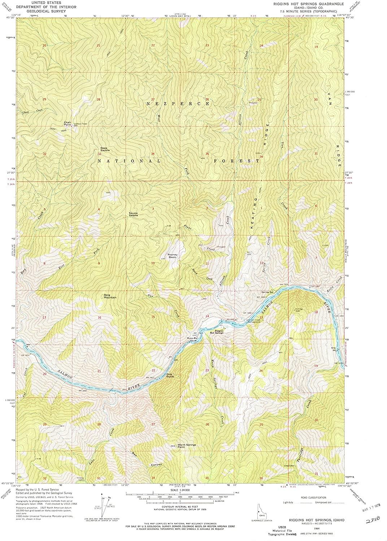 Map Print - Riggins Hot Springs, Idaho (1964), 1:24000 Scale - 24