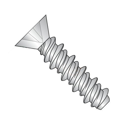 #2 x 1/2 High Low Style Thread Forming Screws/Phillips/Flat Head/18-8 Stainless Steel (Carton: 5,000 pcs)
