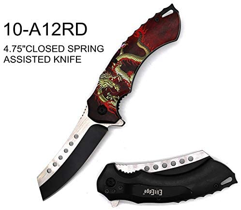 8 ElitEdge Spring Assisted Rescue Tactical Pocket Folding Knife Outdoor Survival Camping Hunting Knife
