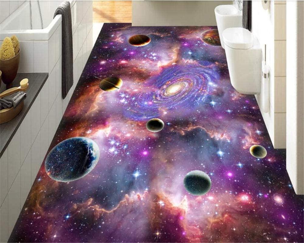 Wall Wallpaper 3D Universe Star Milky Way 3D Three-Dimensional Painting Floor Interior Decoration Wallpaper customize-1m2