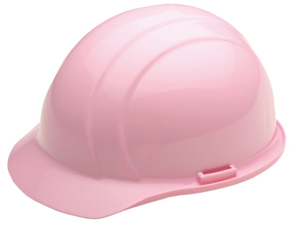 ERB Safety 039-19375 Americana Cap Style Hard Hat with Slide Lock, Polyethylene, Adjustable, Pink