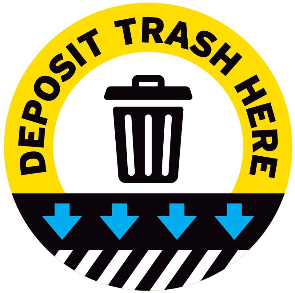 Garbage Floor Decal (Deposit Trash HERE 2, 11