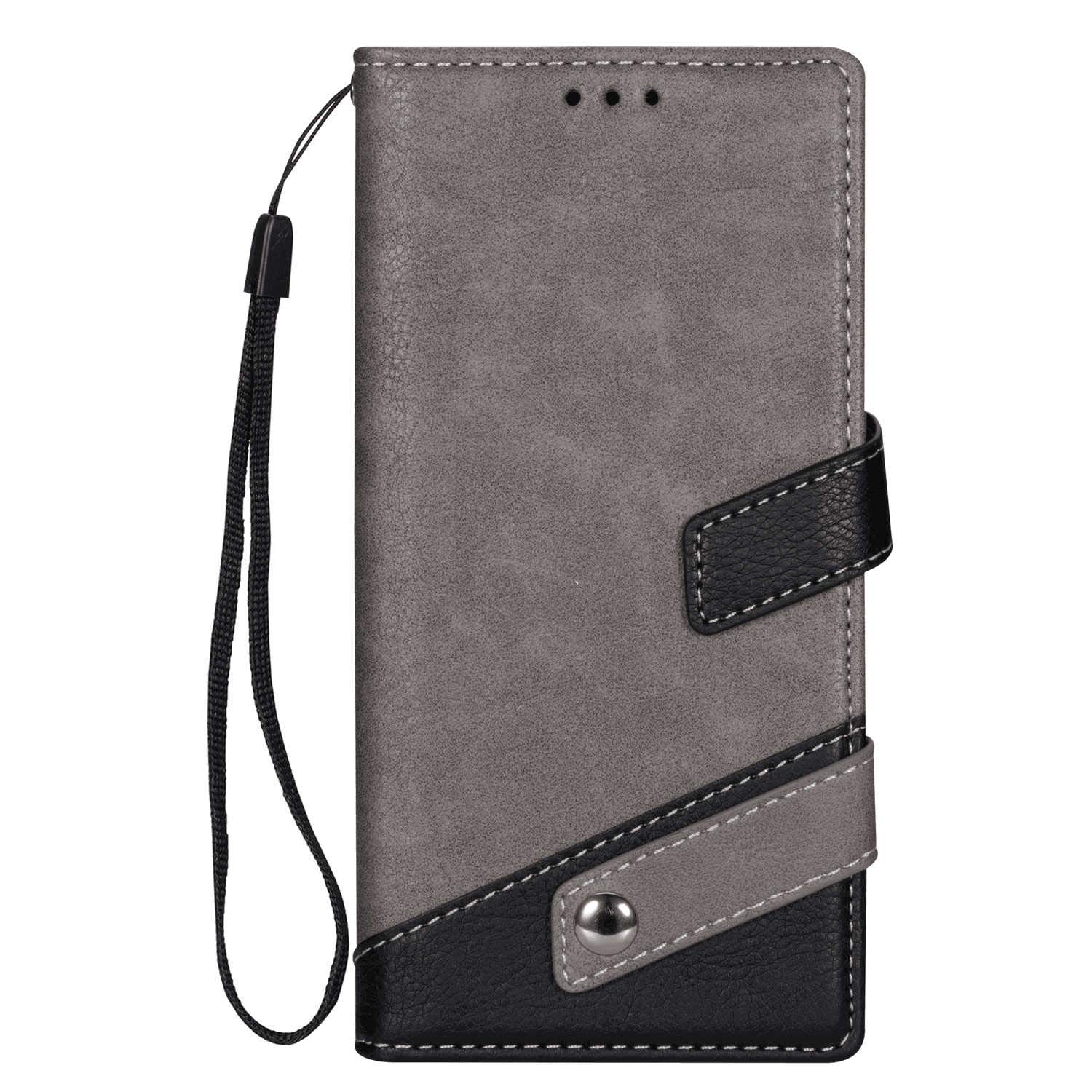 Leather Cover Compatible with Samsung Galaxy Note 10 plus, gray Wallet Case for Samsung Galaxy Note 10 plus