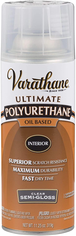 Rust-Oleum Varathane 6081 Interior Polyurethane Oil-Based Spray, Semi-Gloss Finish