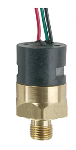 Gems PS41-10-4MNB-C-FL18 Series PS41 Economical Miniature Pressure Switch, SPDT Circuit, 4-8 psi Range, 1/4