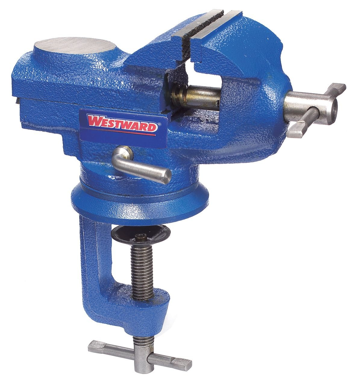 Westward, 10D697, Bench Vise, Portable Clamp, Swivel, 2-3/8In