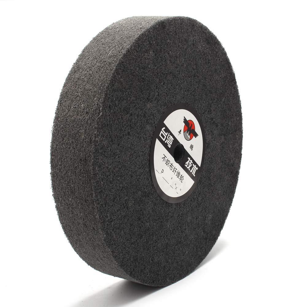 250mm 10-inch Nylon Fiber Polishing Buffing Wheel Grinding Discs Metal Abrasive Tools for Polishing of Metals, Ceramics, Marble, Wood Crafts (2501625mm, 5P)