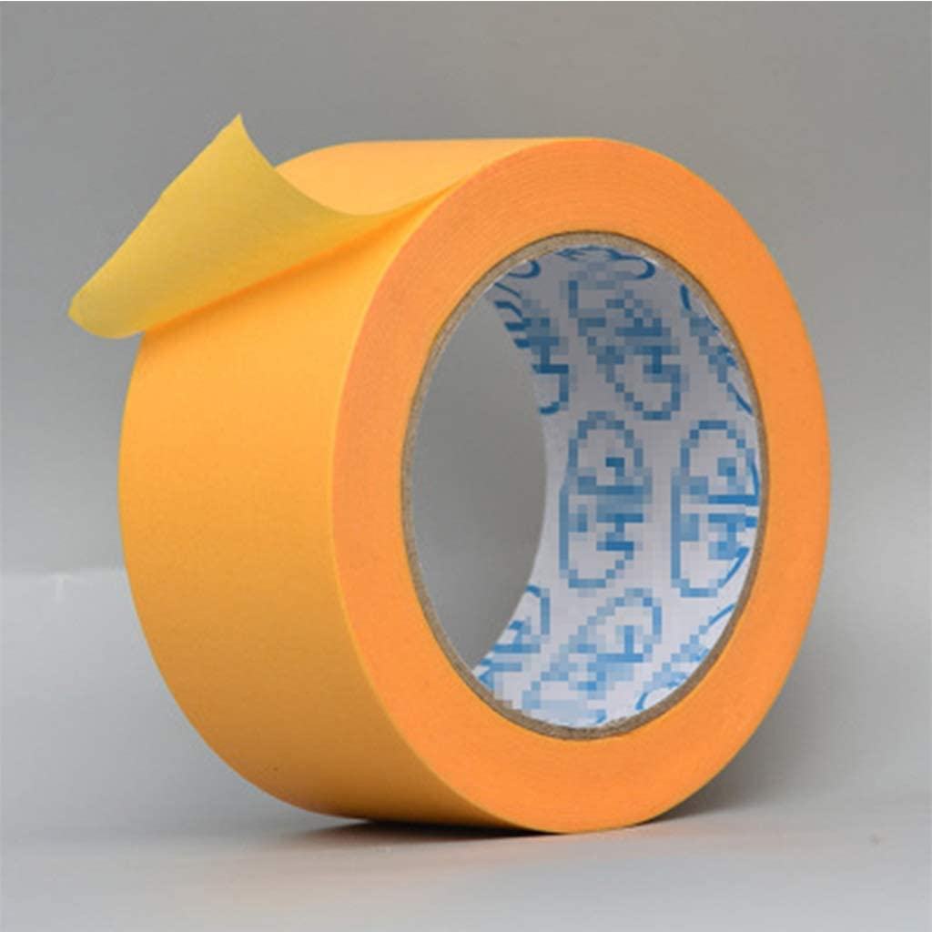 Masking Tape,Craft Art Paper Tape for DIY Scrapbooking Crafts Gift Wrapping (Color:Yellow) (Size : S(0.39in54.7yds))
