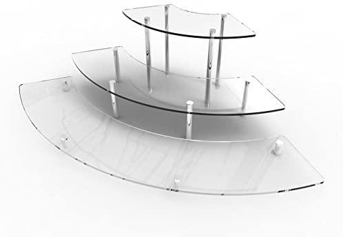 FixtureDisplays 3 Tier Clear Acrylic Countertop Cupcake Display Stand Treats Jewelery Organizer Rack 16797-NF