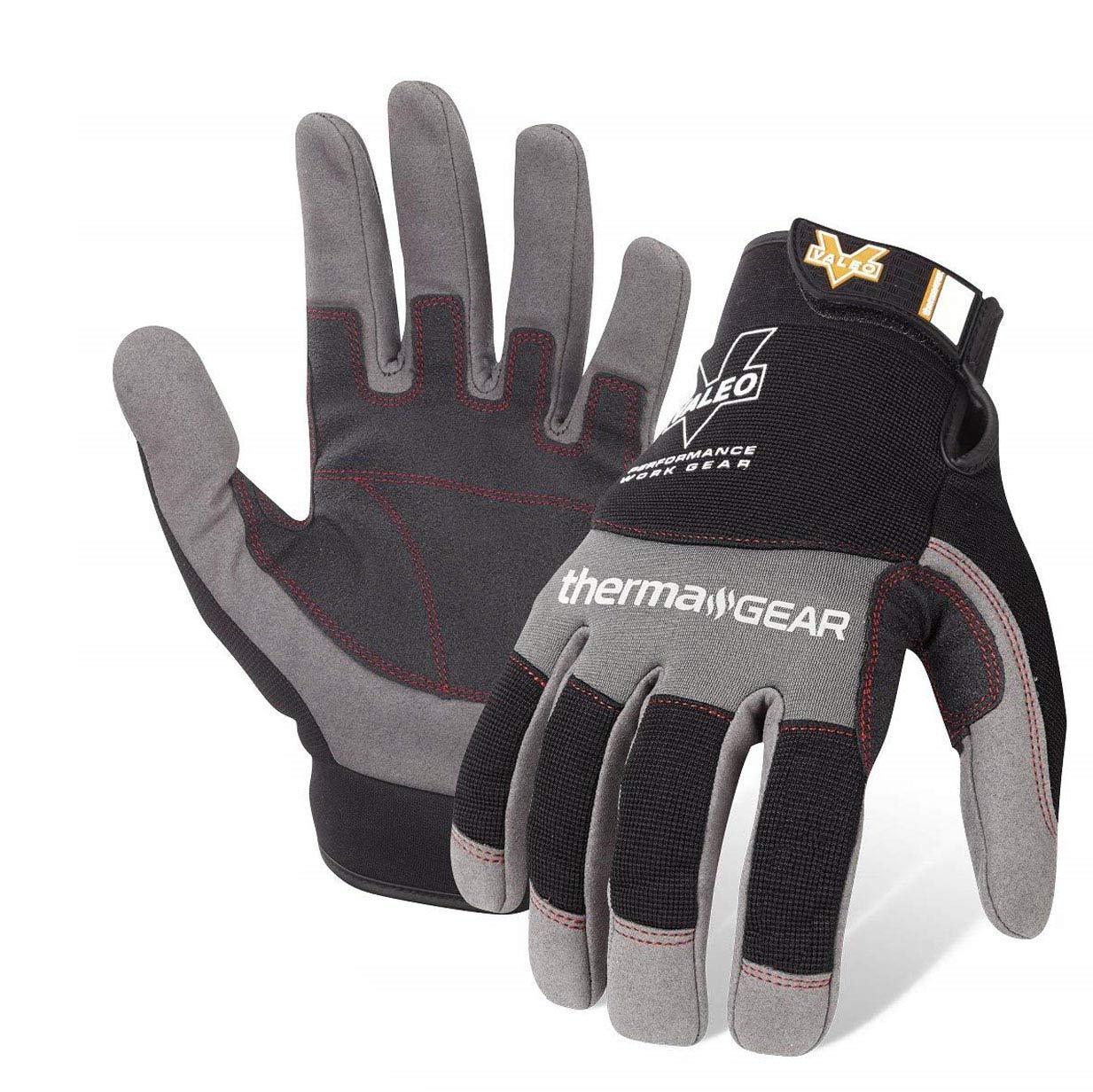 Valeo Industrial V720 ThermaGear Cold Weather Mechanics Gloves, VI9544, Pair, Grey, Medium