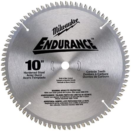 Milwaukee 48-40-4160 Endurance 10-Inch 24 Tooth ATB General Purpose Saw Blade with 5/8-Inch Arbor