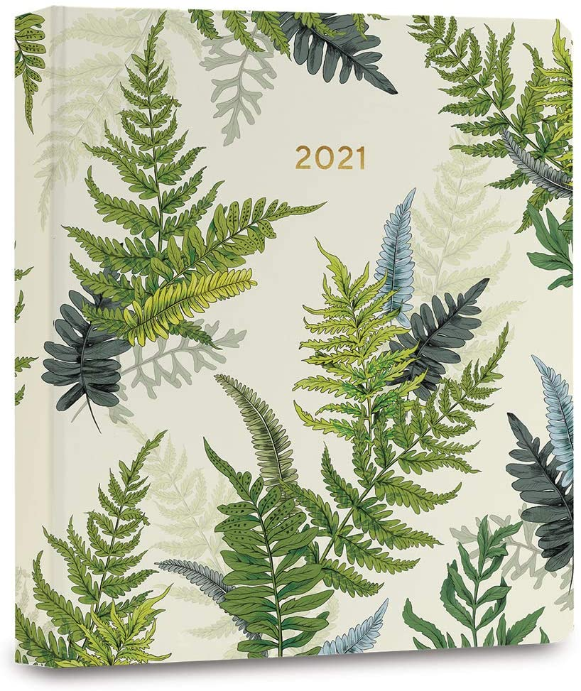 High Note 2021 Planner by La Scarlatte, Greenery Woodland Ferns 17-Month Hardcover Planner, August 2020 - December 2021, 7