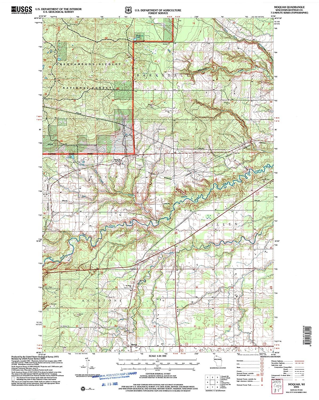 Map Print - Moquah, Wisconsin (2005), 1:24000 Scale - 24
