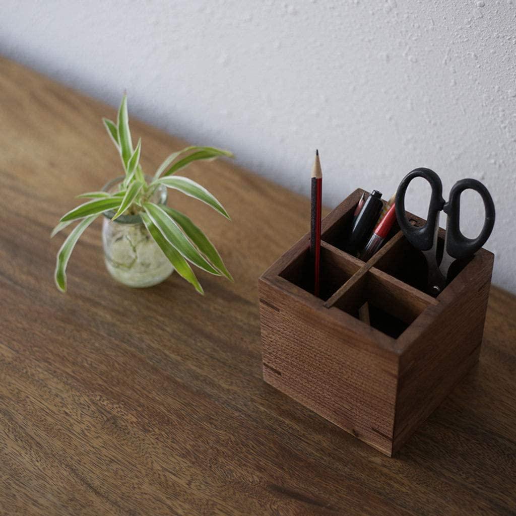 Desk Organizer Stationery Organizer Office Organizer Office Supplies Organizer,4 Compartment Wood Multifunction Caddy Pen Holder Penholder Pen Box-1