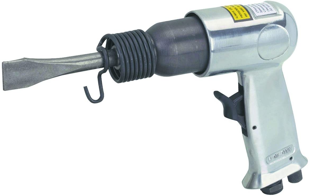 Air Impact Hammer Kit with Built-in Air Regulator and 2 heavy duty chrome molybdenum chisels
