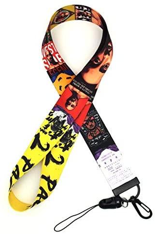 Anime Source 2Pac Tupac Rap Artist Comemmorative Lanyard ID Badge Holder Keychain Mobile Phone Gym Pass Holder Hip Hop