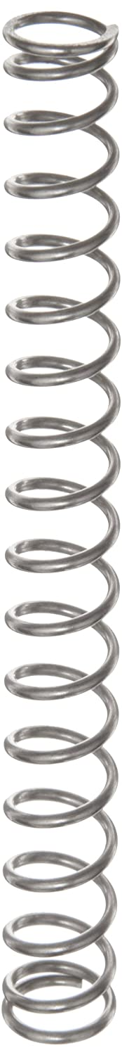 Compression Spring, Stainless Steel, Metric, 11.25 mm OD, 1.25 mm Wire Size, 30 mm Compressed Length, 93.5 mm Free Length, 71.17 N Load Capacity, 1.12 N/mm Spring Rate (Pack of 10)