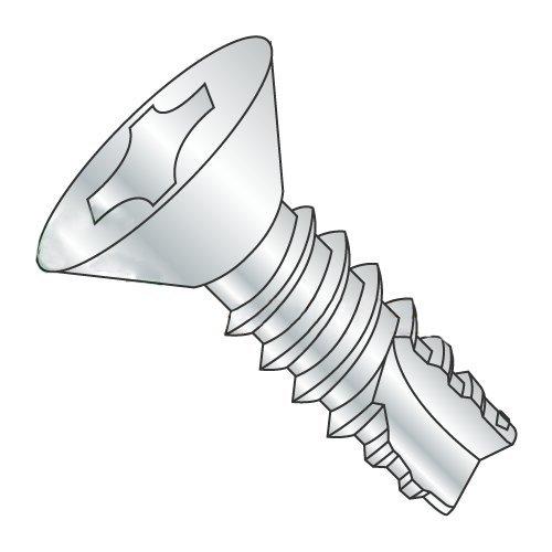 #4 x 3/8 Type 25 Thread Cutting Screws/Phillips/Flat Head/Steel/Zinc (Carton: 10,000 pcs)