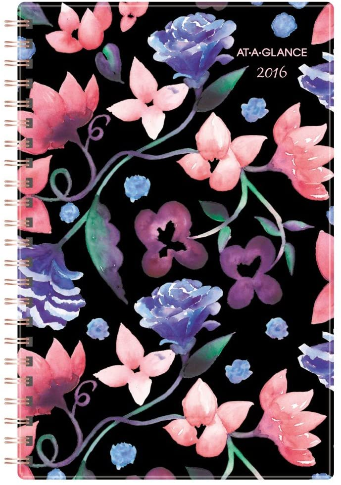 AT-A-GLANCE Desk Weekly/Monthly Planner 2016, 4.88 x 8 Inches, Vanessa (159-200)