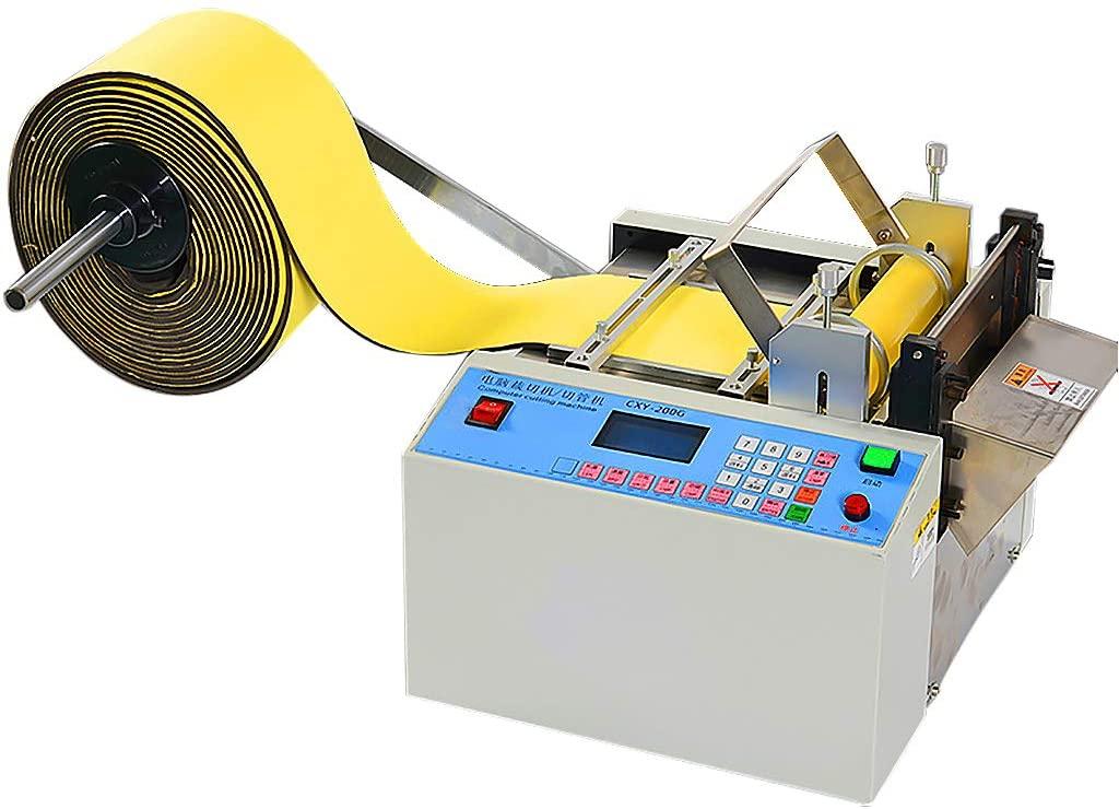Automatic Cold Tape Cutting Machine LCD Display Digital Belt Cutter Device for Zipper Belt Nylon Ribbon, PPC tape, bag PVC plastic, hose, plastic film Cutting Width 160mm,80m/min