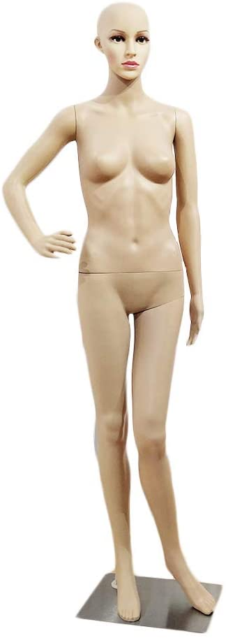 XSL1 Female Akimbo Bent Foot Body Model Mannequin Skin Color
