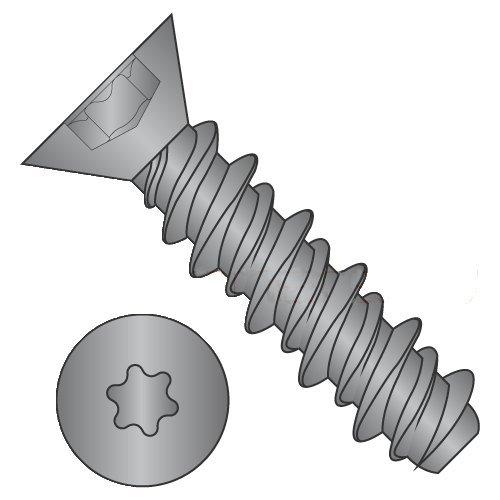 #4 x 3/4 High Low Style Thread Forming Screws/Six-Lobe (Torx) / Flat Head/Steel/Black Oxide (Carton: 10,000 pcs)