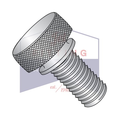 8-32X9/16 Knurled Thumb Screws | Washers Face | Stainless Steel (Quantity: 100)