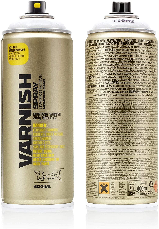 Montana Cans Montana TECH 400 ml Varnish, Clear Semi -Gloss Spray Paint