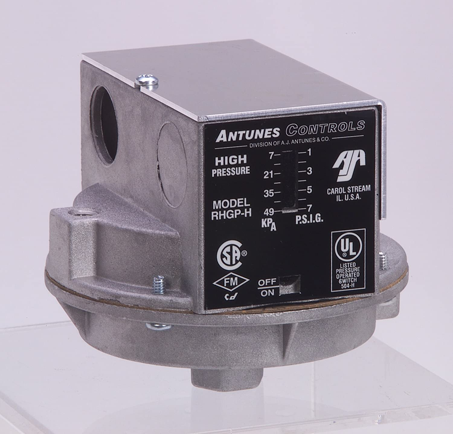 Antunes Controls 803113401 Models RHGP-H and RLGP-H Single Gas Switches