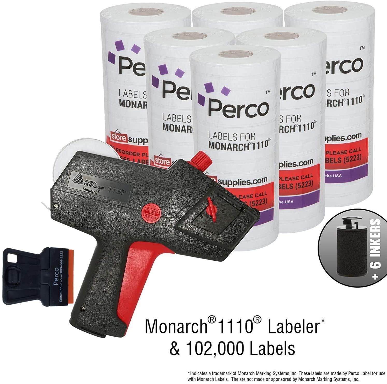 Monarch 1110 Price Gun with Labels Value Pack: Includes Monarch 1110 Pricing Gun, 102,000 White Pricemarking Labels, Bonus Inkers