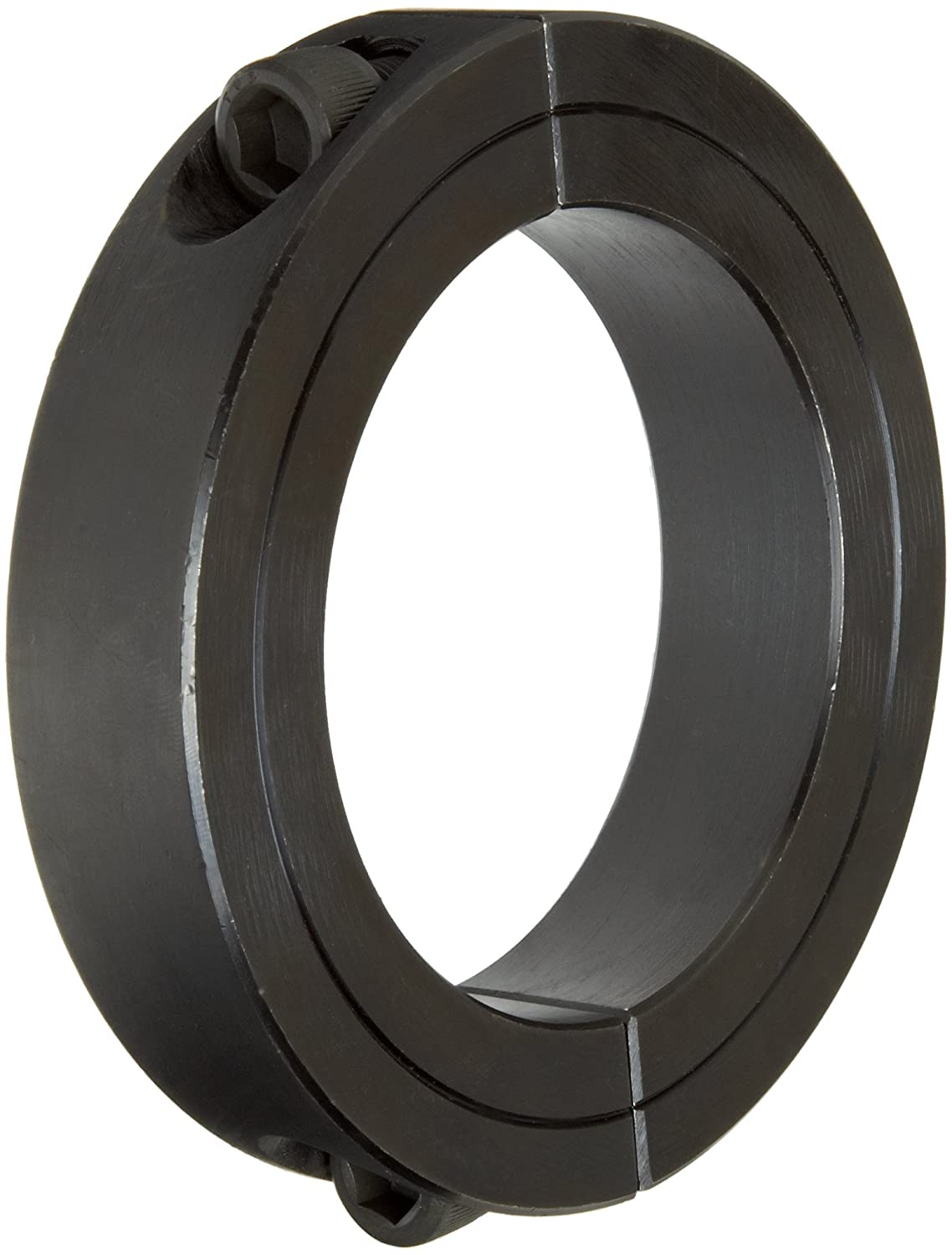 Climax Metal 2C-193 Steel Two-Piece Clamping Collar, Black Oxide Plating, 1-15/16