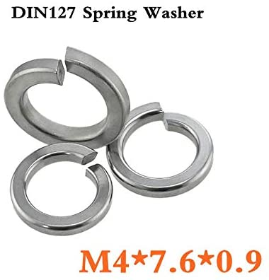 Ochoos 100pcs/lot DIN127 M4 Spring Washer A2 Stainless Steel