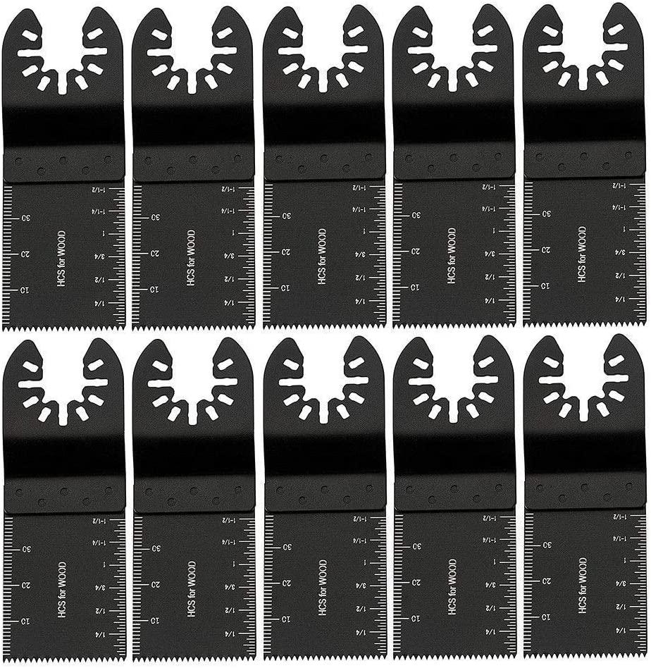 Shreem85 Saw Oscillating Blades Multi Tool DIY Carbon Steel Cutter Universal 34mm-10 Pack