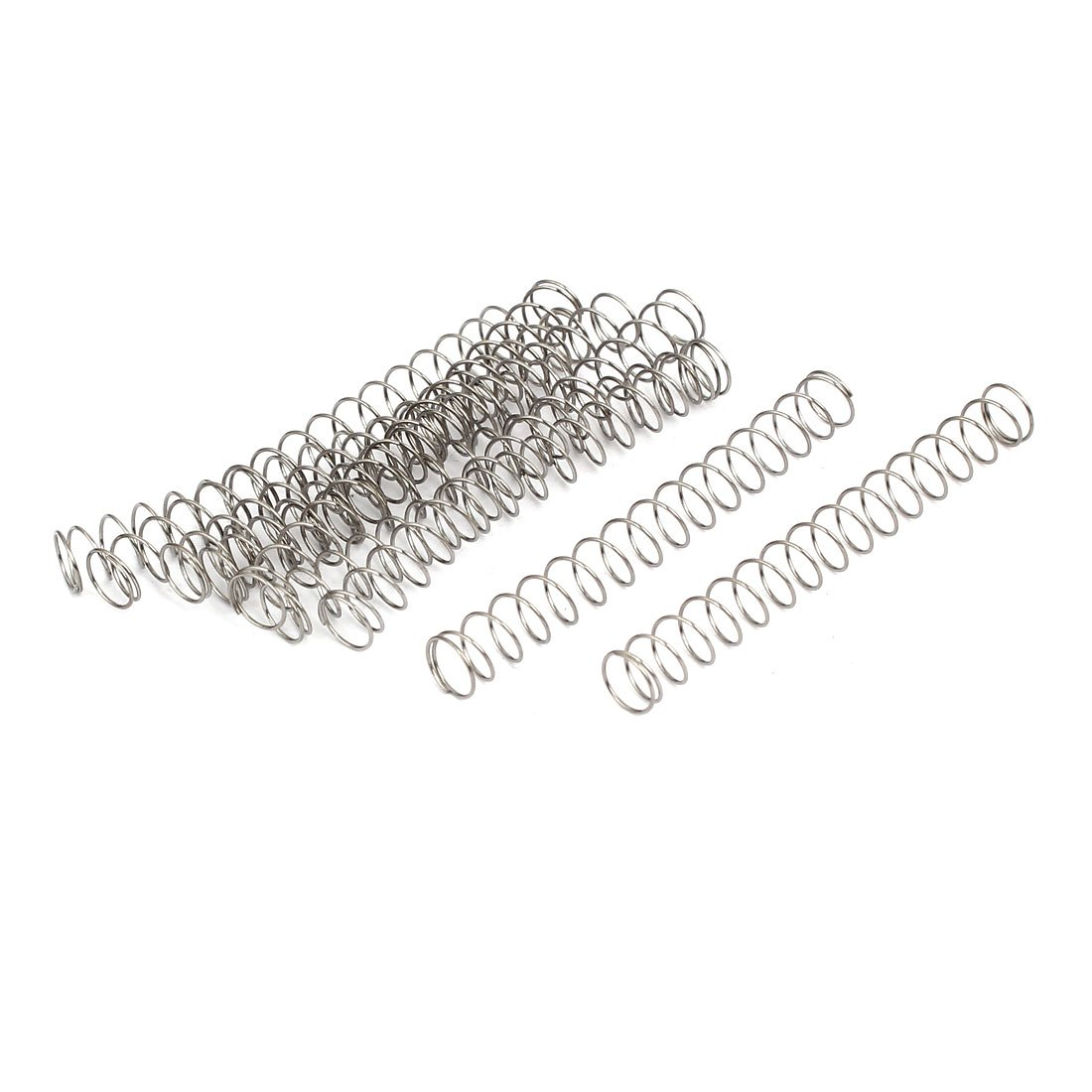 uxcell 0.4mmx6mmx50mm 304 Stainless Steel Compression Springs 10pcs