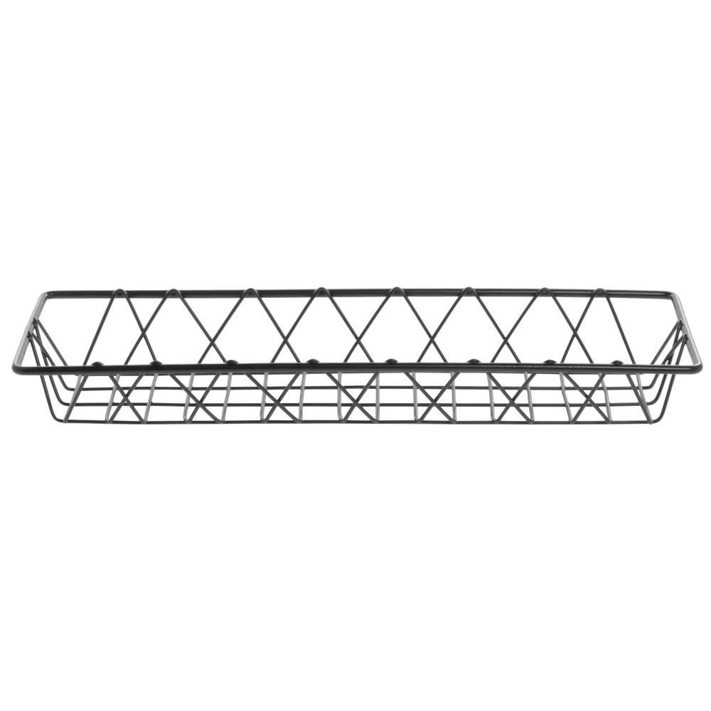 HUBERT Wire Display Basket Pastry Tray Bakery Basket Rectangular Nickel Powder-Coated Steel - 18L x 6W x 2H