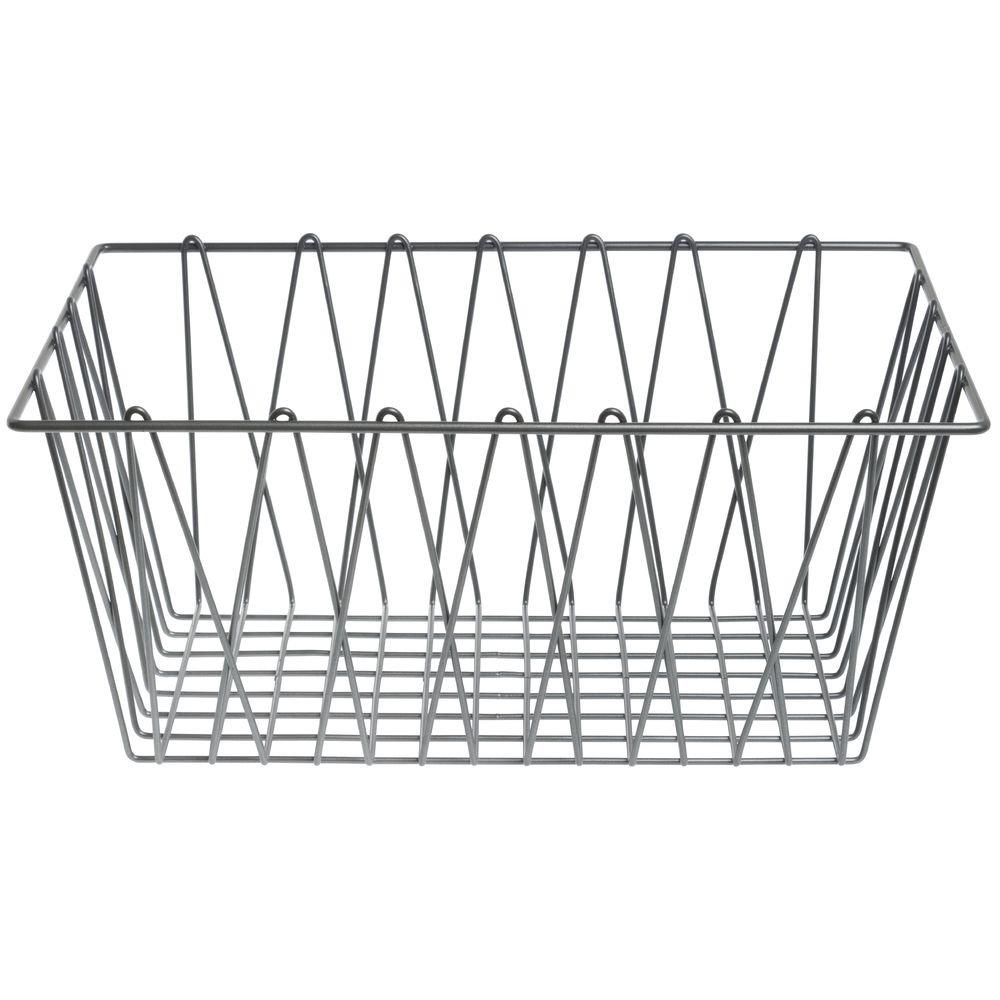 HUBERT Wire Display Basket Pastry Tray Bakery Basket Rectangular Nickel Powder-Coated Steel - 18