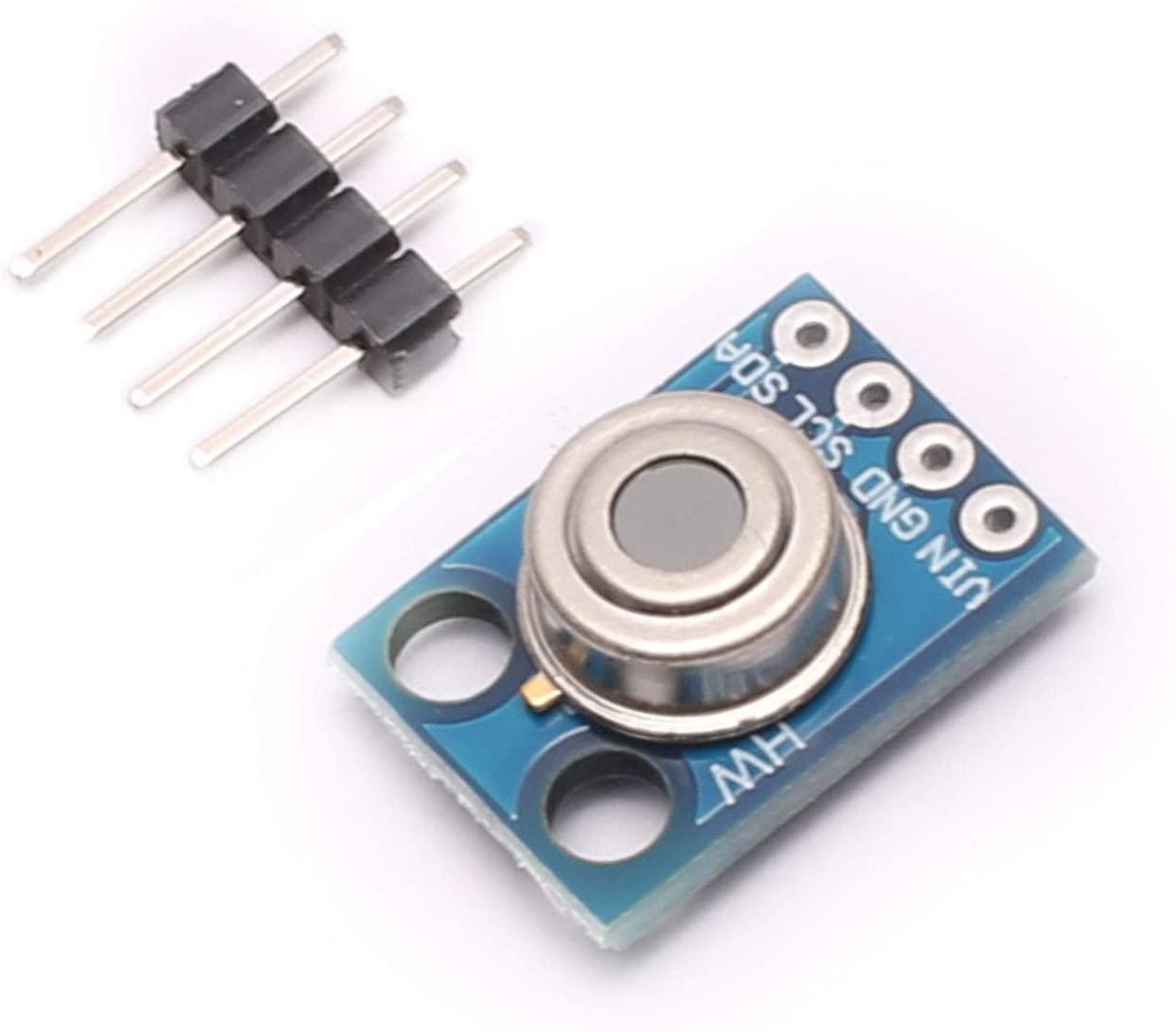 DEVMO MLX90614ESF-BAA GY906 MLX90614 Contactless Temperature Sensor Module IIC I2C Serial Compatible with Arduino
