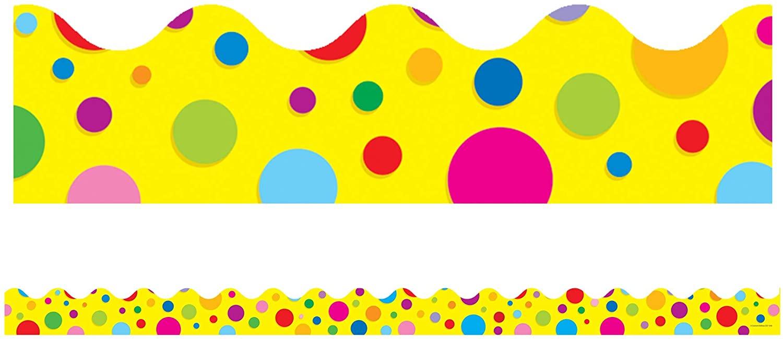 Carson Dellosa Colorful Dots Borders (1246)