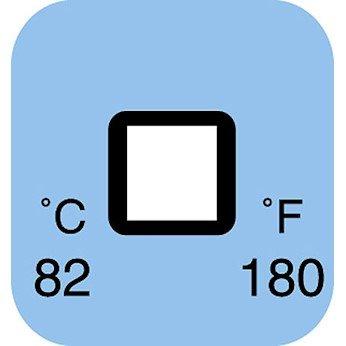 Digi-Sense AO-09035-35 Irreversible 1 Point Temperature Label, 182°C/360°F; 50/Pk