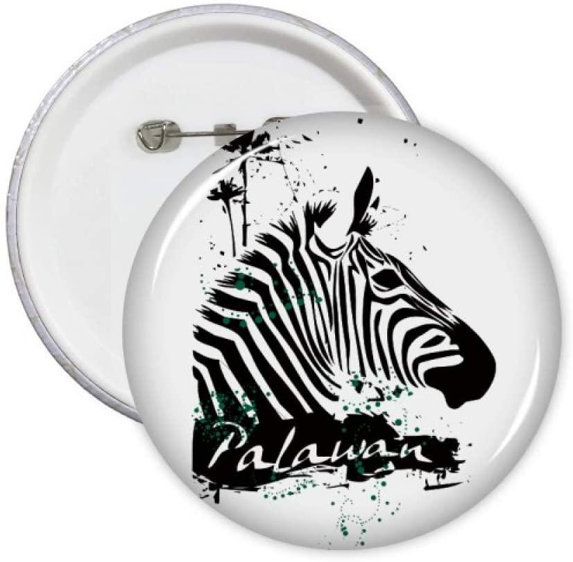 Palawan Tropical Style Pinto Animal Pins Badge Button Emblem Accessory Decoration 5pcs