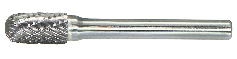 Drillco 7000C Series Magnum Solid Carbide Bur, Double Cut, Cylindrical Radius End, 1/4