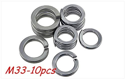 Ochoos 10pcs M33 304 Stainless Steel Spring Washer Shells Pad Elastic Gasket