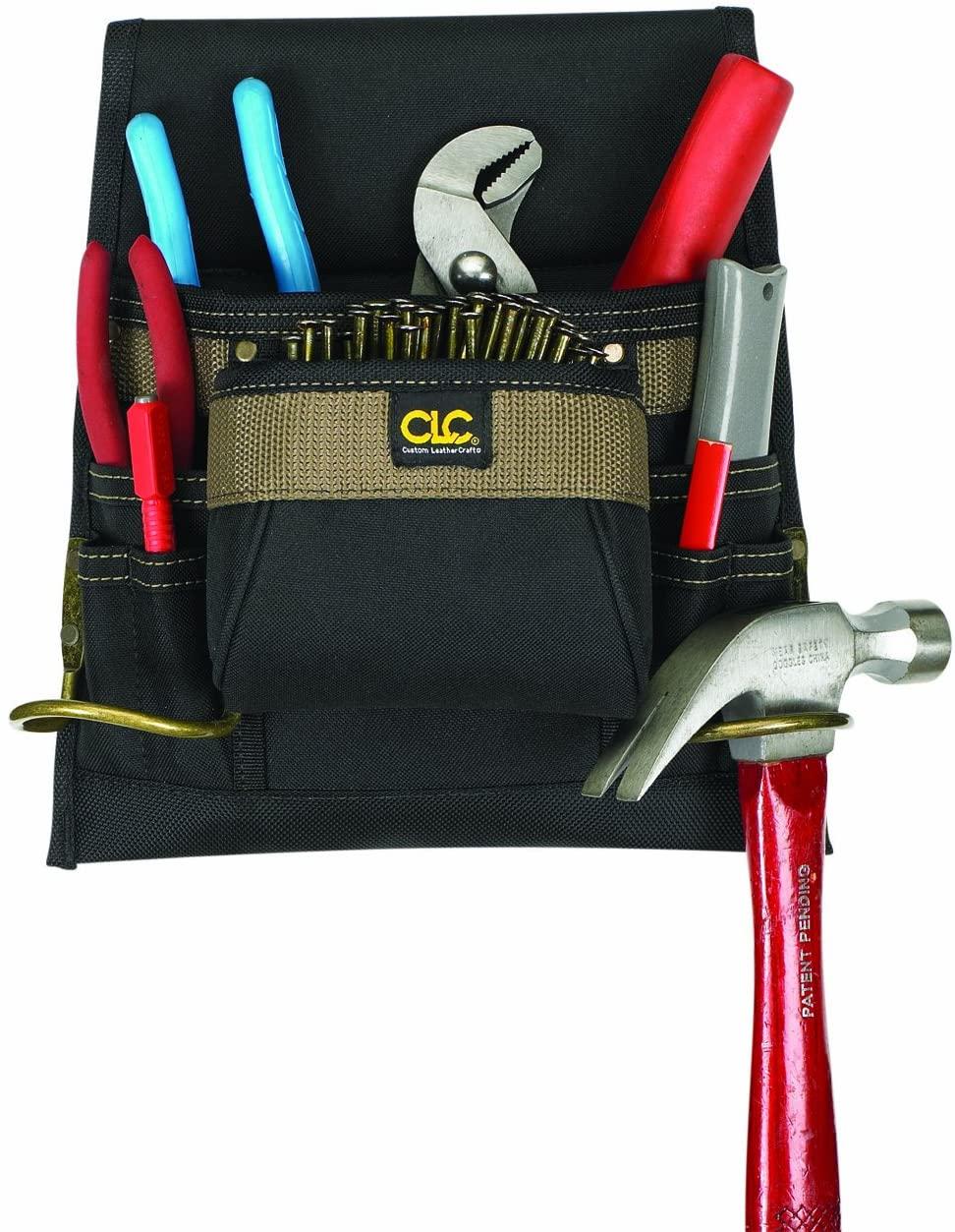 CLC Custom Leathercraft 1823 Nail and Tool Bag, Poly, 8-Pocket