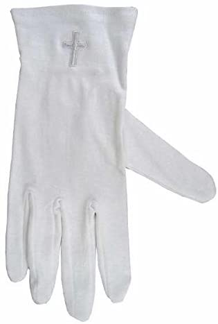 1 X X-large White Gloves with White Cross