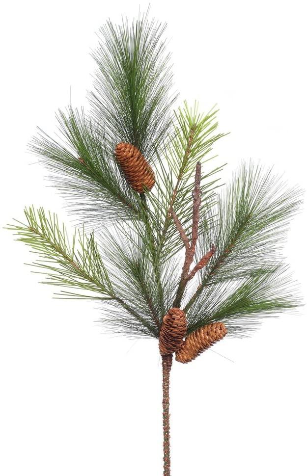 Vickerman Bavarian Pine Spray with Cones & 7 Hard Needle Tips, 29
