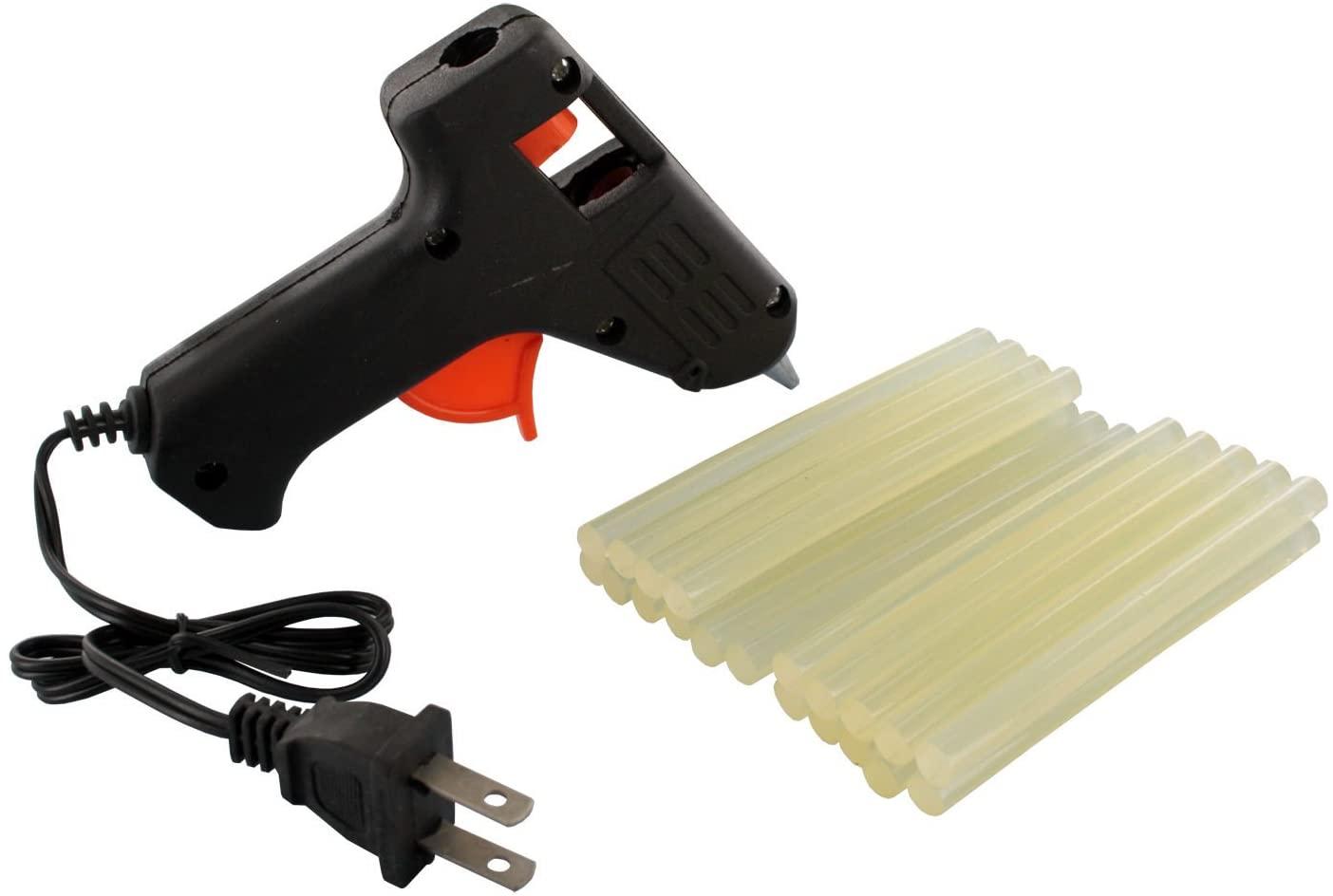 10w Mini Craft Trigger Hot Melt All-purpose Glue Gun w/ 22 Glue Sticks
