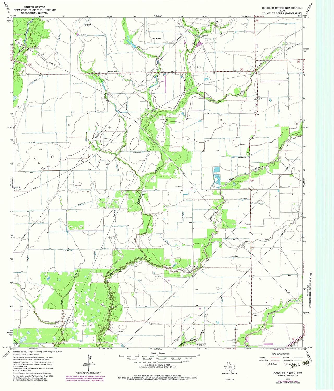 Map Print - Gobbler Creek, Texas (1965), 1:24000 Scale - 24