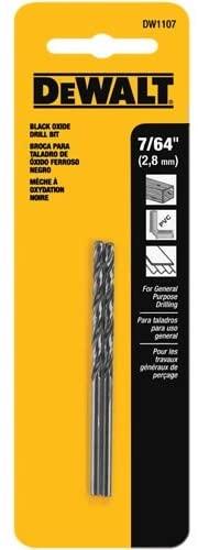 DEWALT DW1107 7/64-Inch Black Oxide Split Point Twist Drill Bit (2-Pack)